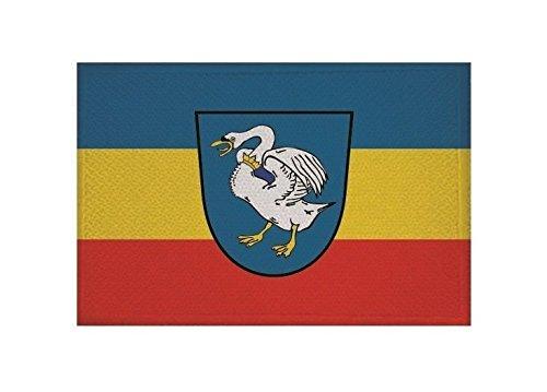 U24 Aufnäher Schwaan Fahne Flagge Aufbügler Patch 9 x 6 cm