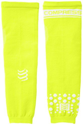 COMPRESSPORT Arm Force - Calentadores de Brazos de Running para Hombre, Color Amarillo Fluor, Talla FR : XL (Taille Fabricant : T4)