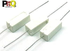 Blanc//argent/é Aexit 36 Ohm 5 W fixe Fil enroul/é axial Lead C/éramique Ciment r/ésistance 15 pi/èces 549V456