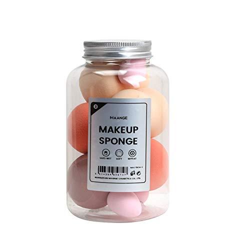 8pcs Éponge De Maquillage, gourde en forme de maquillage Puff Boxed Foundation Beauty Pong Sponges Eggs (Mix Colors)