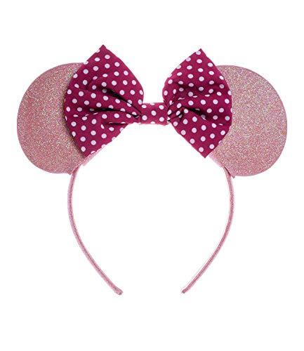 SIX Kids Haarreifen mit glitzernden Minnie Maus-Ohren Disney (305-331)