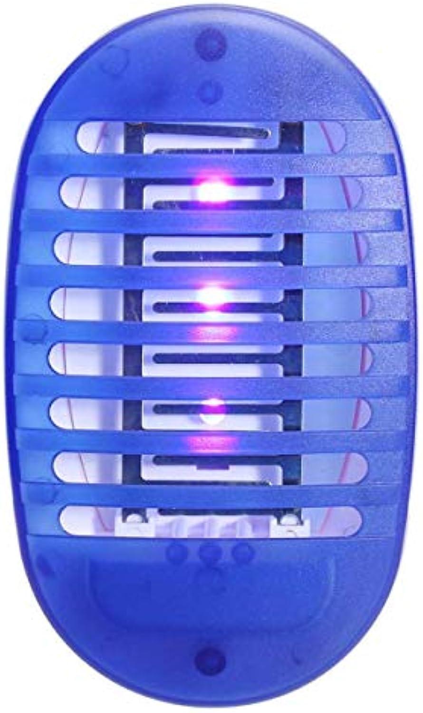 Mückenlampe SHUAKFDMosquito Killer Lampe Eu Us Plug Led Licht Uv Lampe Beseitigt Insektenfalle Anti-Insekten-Killer Nachtlampe Moskito-Kontrollgert EU-Stecker Blau