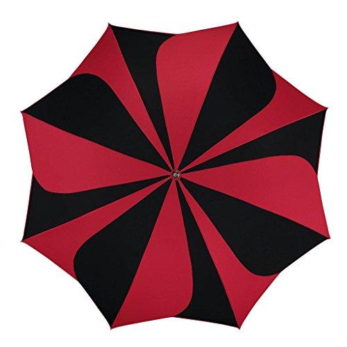 Pierre Cardin Stockschirm Damen Sunflower Automatik, Farbevariante: schwarz/rot