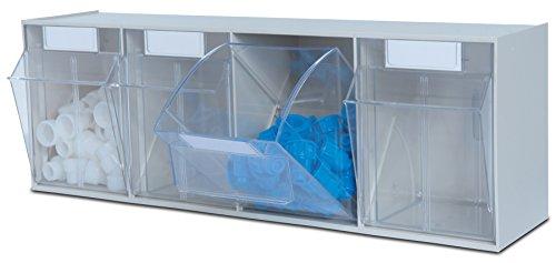 hünersdorff Klarsichtbehälter / Aufbewahrungsbox / Riegel für ein optimales MultiStore-Lagersystem im Baukastenprinzip aus hochschlagfestem Kunststoff (PS), Nr. 4