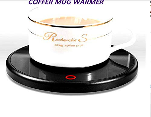 Coffee Mug Warmer,Smart Coffee Warmer,Electric Electric Beverage Warmer With 55 Temperature 40-60Tempture Settings at most, Best Gift Idea, Office/Home Use Electric Cup Beverage Plate, Water,Milk15watt Power warterproof Design (Black)