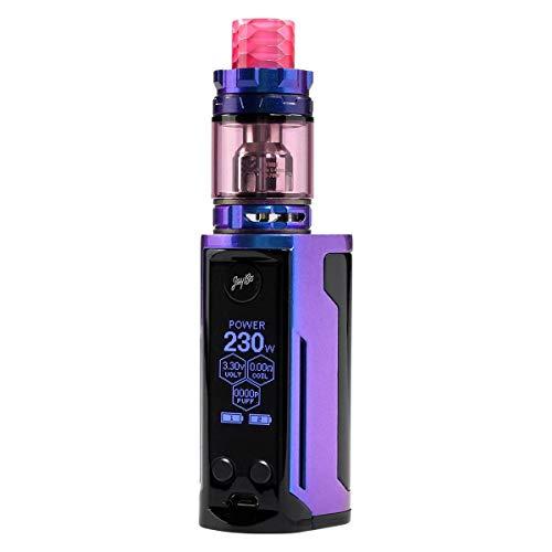 Wismec Reuleaux RX GEN3 Dual Kit 230 W, mit Gnome King Tank 5,8 ml, Durchmesser 26 mm, Riccardo e-Zigarette, gloss blue / purple