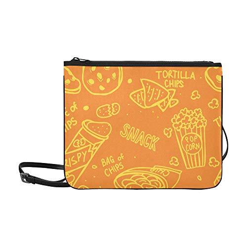 Generies Cross Body Tourist Bag Köstliche dünne, knusprige Snacks Kartoffelchips Verstellbarer Schultergurt Reise-Umhängetaschen für Frauen Mädchen Damen Damen Umhängetaschen Tasche Rucksack Schulter