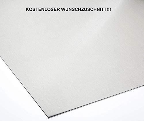 Alublech 4 mm Aluminiumblech ALMg3 Zuschnitt inkl Folie, Größe nach Maß Alu Neu (500 mm x 100 mm)