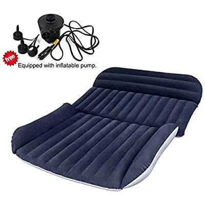 BHMOTORUS SUV Air Mattress,Thickened Car Bed Inflatable Home Air Mattress Portable Camping Outdoor Mattress,Flocking Surface,Perfect For Your Minivan or SUV