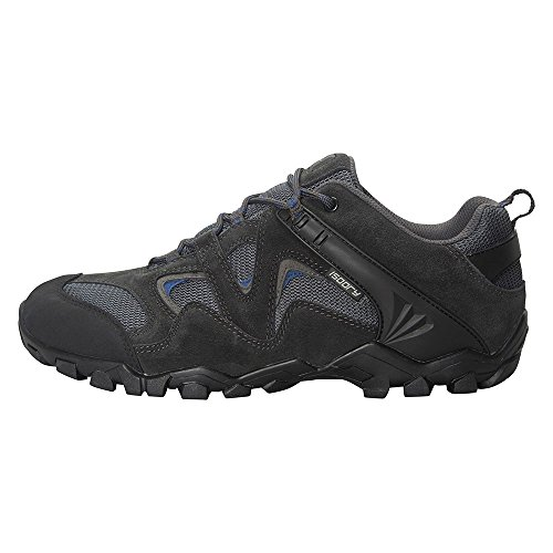 Mountain Warehouse Curlews Mens Waterproof Walking Shoes - Quick Drying Hiking Boots, Suede & Mesh Outer Material Outdoor Shoes, Rubber Sole - Ideal for Camping, Hiking Grey 9 UK
