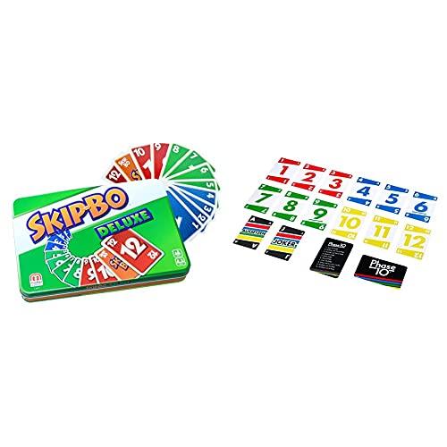 Mattel Games L3671 Skip-BO Deluxe in Metalldose Kartenspiel, Spieldauer ca. 30 Minuten & Phase 10 Kartenspiel und Gesellschaftspiel geeignet für 2 - 6 Spieler, Gesellschaftsspiele und Kartenspiele
