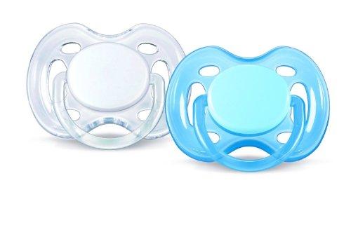 Avent, Tétines en silicone sans BPA, sans écoulement, 0-6mois