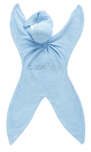 Doudou Cuski bio en fibres de bambou - Bleu (Bluee-boo) - Cuskiboo
