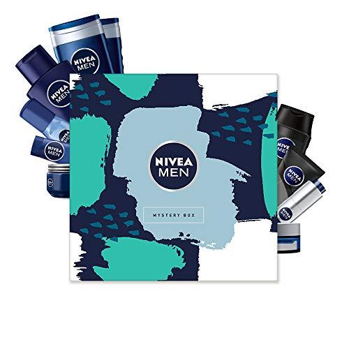 NIVEA MEN Mystery Box Wundertüte Überraschungsbox Geschenkset für Herren in schöner Box, 10-teiliges Pflegeset mit ausgewählten Produkten in Originalgröße für den gepflegten Mann (Warenwert 39 EUR)