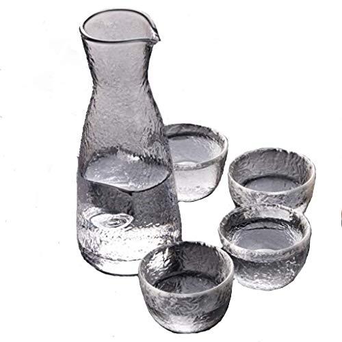 PIVFEDQX Exquisito Vaso De Licor Frasco De Cadera Juego De Tazas Patrón De Ojo De Martillo Creativo Jarra Caliente para El Hogar Juego De Vino De Sake Japonés 8.5