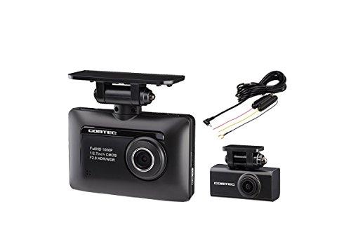 コムテックZDR-015(前後2カメラ)ドライブレコーダー+駐車監視用直接配線コードHDROP-09セット