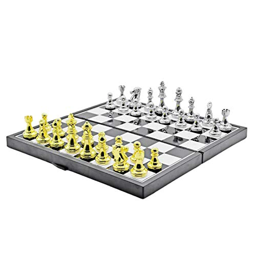 AIflyMi Chess Board Set Game -Travel Magnetic Chess Piece Set with Chess Folding/Portable Storage Board-Traditional Tactical Strategy Game for Kids/Children/Adults