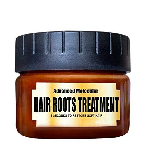 Momola Soin capillaire detoxifiant capillaire Traitement avancé des racines des cheveux moléculaires 60ML Récupérer Élasticité Cheveux - 100% Pur et Naturel - 105g