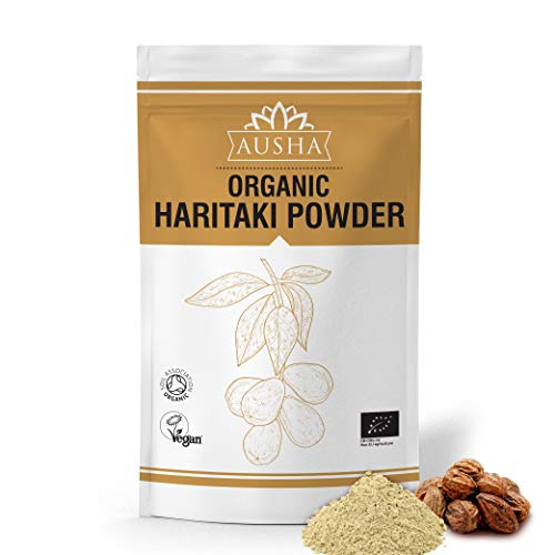 Ausha Organic Haritaki Powder 100g | Constipation,Detox,Cleanse,Immunity,Digestion | Certified Organic by Soil Association)