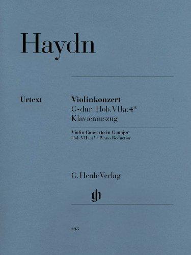 Konzert G-Dur Hob 7a/4 - Vl Orch. Violine, Klavier