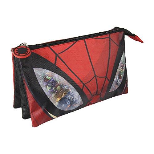 Spiderman Estuche portatodo triple, multicolor, 22 cm (ARTES