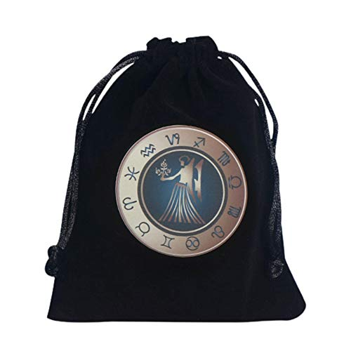 LILEI Tarot Bag, Tarot Storage Bag, Tarot Rune Bag, Tarot Bag Pouch, 12x15CM Thick Velvet, Celtic Runes Protective Card Board Game Storage Drawstring Bag