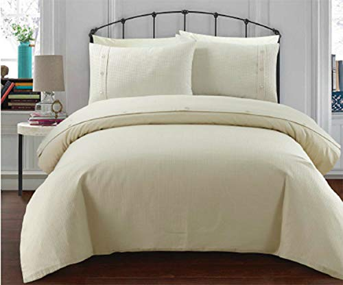 Sleepdown King Duvet Set, Cotton, Cream