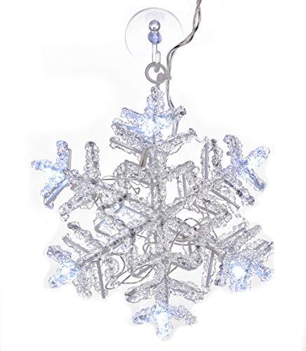 LED Fensterbild Schneeflocke - Fenster Silhouette Weihnachts Deko Fensterlicht
