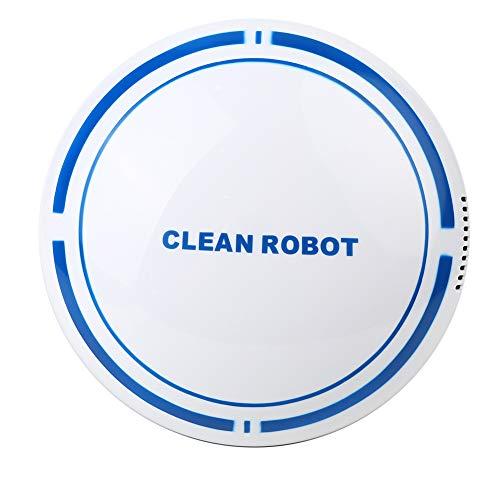Robot Aspirador Sweeping Robot Aspirumeer, Touch Sensitive Separe Separe Automático Limpiar Robot USB Aspirador Recargable para Uso En El Hogar Blanco