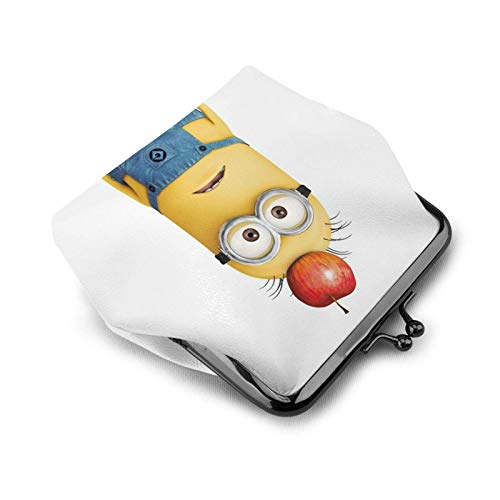 Cute Mi-ni-ons Cute Coin Purse for Women -lo Vintage Jewelry Cards Trinkets Pouch Closure Wallet Key Holder Headphones Change Purse Multifunctional Bags