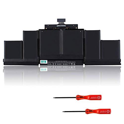 DTK A1494 Laptop Akku für MacBook Pro 15 Zoll A1398 (nur für späte 2013 und Mitte 2014) ME293 ME294 [11.26V 95Wh]