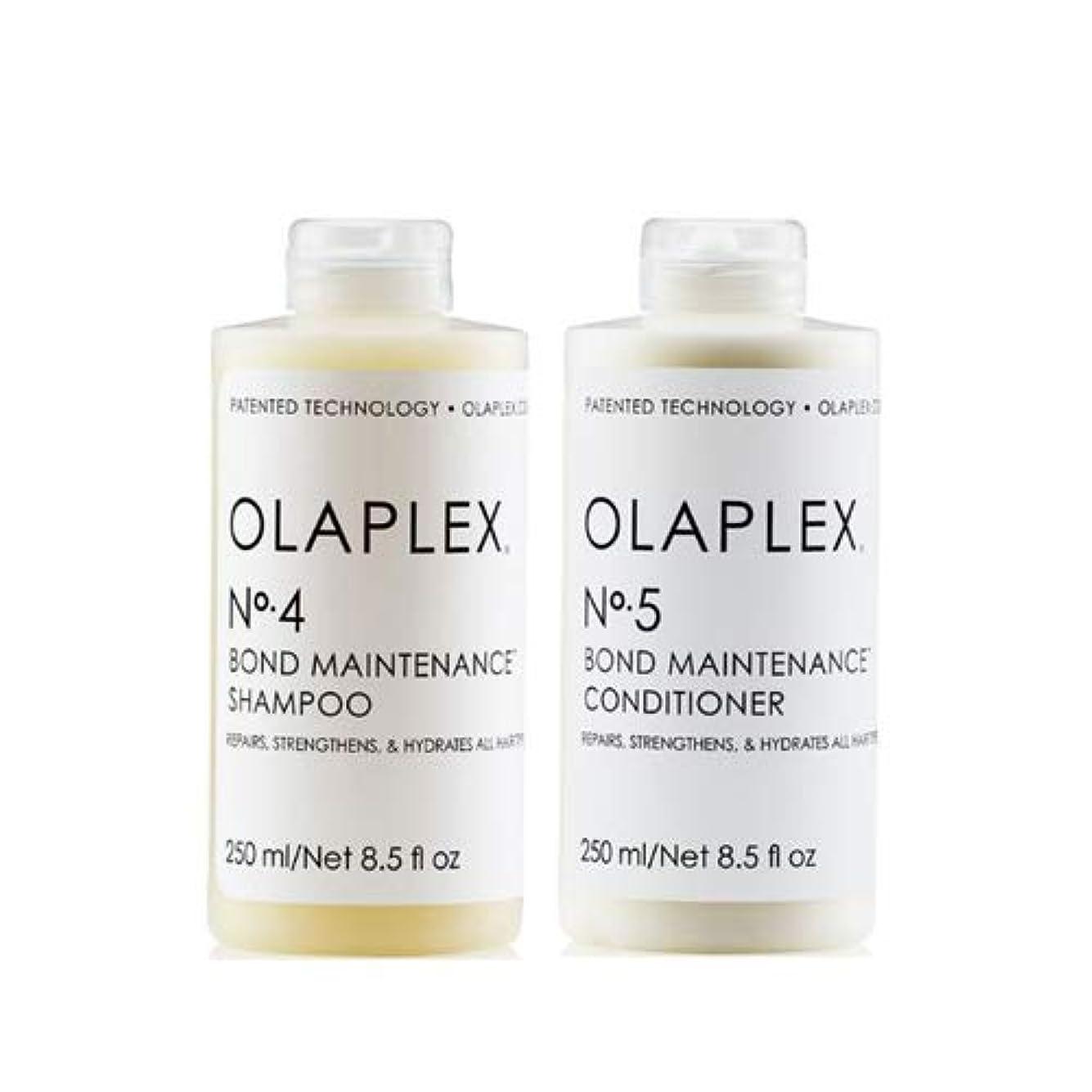 ためらう信じられないコンペOlaplex オラプレックス No. 4 5 ボンド メンテナンス シャンプー&コンディショナー Olaplex Bond Maintenance Shampoo & Conditioner 【並行輸入品】