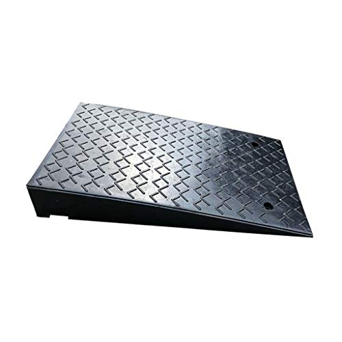 CSQ-Ramps Auto Repair Shop Rubber Ramps, Heavy Truck/Large Car Ramps/for gebieden met veel verkeer/Side Water Outlet Ontwerp Curb Ramps (Color : Black, Size : 50 * 80 * 12cm)