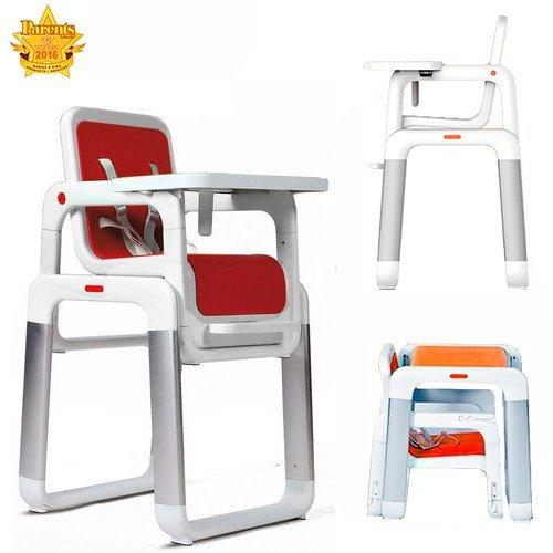 Star Ibaby Kombi-Hochstuhl. Leicht umbaubar zur Stuhl-Tisch-Kombination (Scarlet)