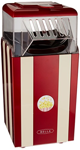 Fantastic Prices! BELLA 13554 Hot Air Popcorn Maker, Red and White
