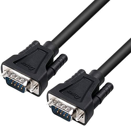 DTECH 1,5 m DB9 9-poliges serielles Kabel Stecker zu Stecker RS232 Straight Through Cord