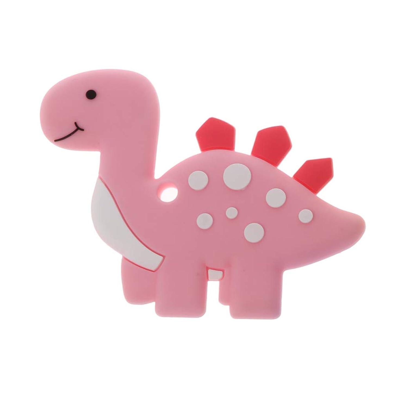 分類する面白いボーダーLanddumシリコーンおしゃぶり恐竜おしゃべり赤ちゃん看護玩具かむ玩具歯が生えるガラガラおもちゃ - ロイヤルブルー