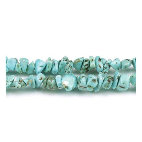 Charming Beads Magnesite Perline Blu Chips 5-8mm Lungo Fili di 240+