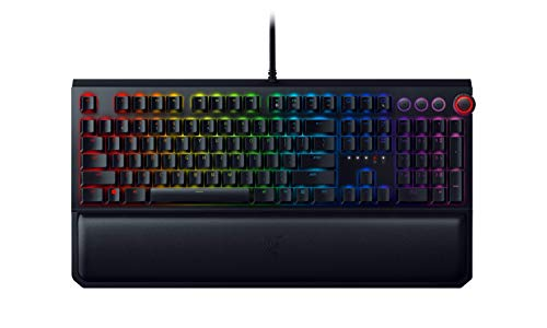 Razer BlackWidow Elite Mechanical Gaming Keyboard: Yellow Mechanical Switches - Linear & Silent - Chroma RGB Lighting - Magnetic Wrist Rest - Dedicated Media Keys & Dial - USB Passthrough (Personal Computers)