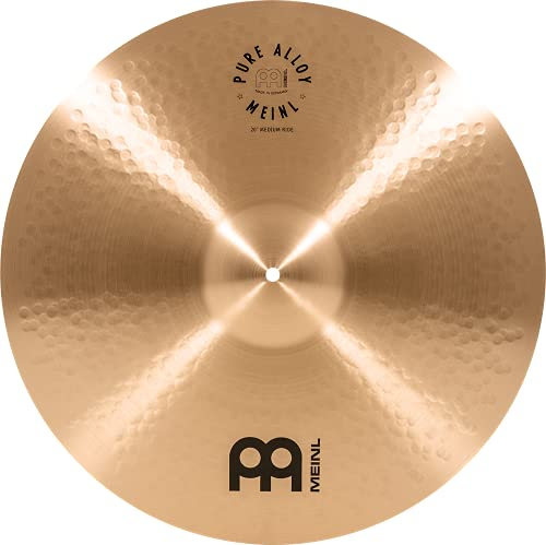 Meinl Pure Alloy 20 Zoll Medium Ride (Video) Schlagzeug Becken (50,80cm) Pure Alloy Bronze, traditionelles Finish (PA20MR)