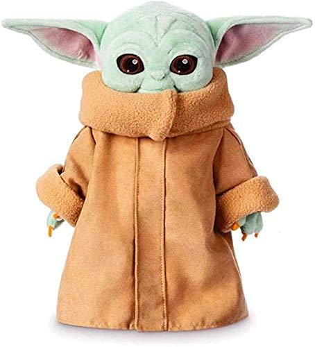 PEDEIECL El muñeco de peluche Mandalorian Baby Yoda de 30 cm para fanáticos de los niños
