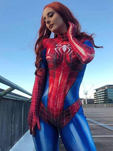 N-B Disfraz de superhroe de Spiderman de una sola pieza, disfraz de anime, disfraz de cosplay, fiesta de cintura alta, disfraz de Halloween, Navidad, fiesta de disfraces para adultos.