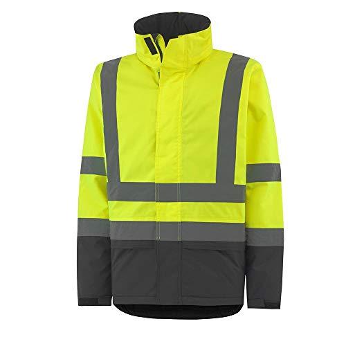 Helly Hansen Workwear Alta Insulated CL3 Geïsoleerde waterdichte regenjas X-Small En471 geel/houtskool.