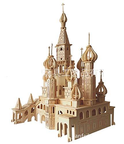 Lingduan Innovative New Favorable Imaginative DIY Difficult 3D Simulation Model Wooden Puzzle Kit