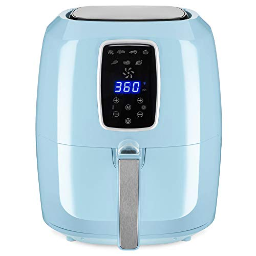 Best Choice Products 5.5qt 7-in-1 Electric Digital Non-Stick Air Fryer Kitchen Appliance w/LCD Screen, Timer -Baby Blue