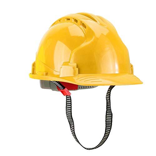 Casco de seguridad de trabajo, práctico casco profesional humanizado de material ABS, portátil ajustable para soldador, minero, trabajador, electricista(yellow)