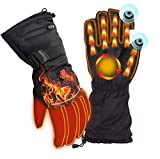 Heated Gloves, 7.4V Rechargeable Battery Electric Heat Gloves for Women Men,3 Heating Temperature Adjustable Gloves can Use 12H for Outdoor Sports Cycling Riding Skiing Skating Hiking Hunting