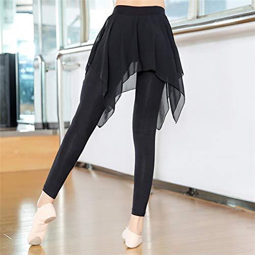 NSYJK Yoga broek Vrouwen Yoga Broek Dansende Broek Sport Workout Panty Fitness Hardlopen Leggings Dans Gym Slim Leggings Met Mesh Rok