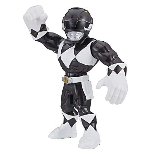 Playskool Heroes Mega Mighties Power Rangers 25 cm große Schwarzer Ranger Figur, Spielzeuge zum Sammeln, Kinder ab 3 Jahren