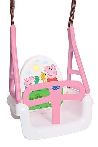 TegaBaby - Columpio infantil 3 en 1 con diseño de Peppa Pig Peppa Pig, asiento para niños hasta 30 kg, certificado TÜV Rheinland, color rosa